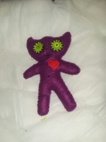 This is my felted pal Pete, he's got a lot of love to give