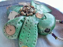 Green Steampunk Scarab Beetle