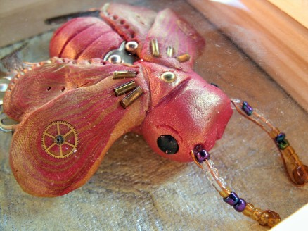 Red Steampunk Scarab Beetle